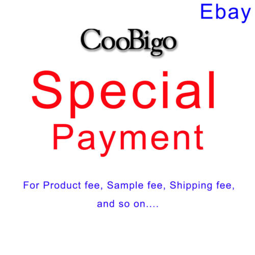 EBay Special Payment for Product fee ,Sample fee , shipping fee and so on