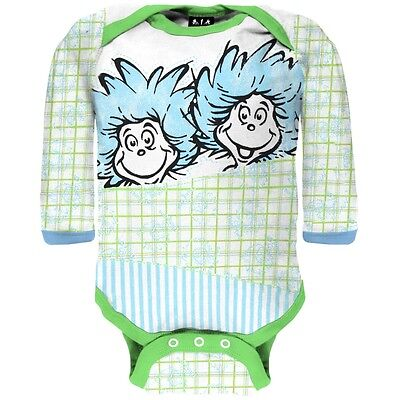 Dr Seuss Baby Clothes - Dr. Seuss - Baby Unisex Fun Things Long Sleeve Newborn Infant One Piece
