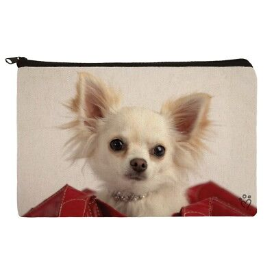 Chihuahua Puppy Dog in Handbag Makeup Cosmetic Bag Organizer Pouch