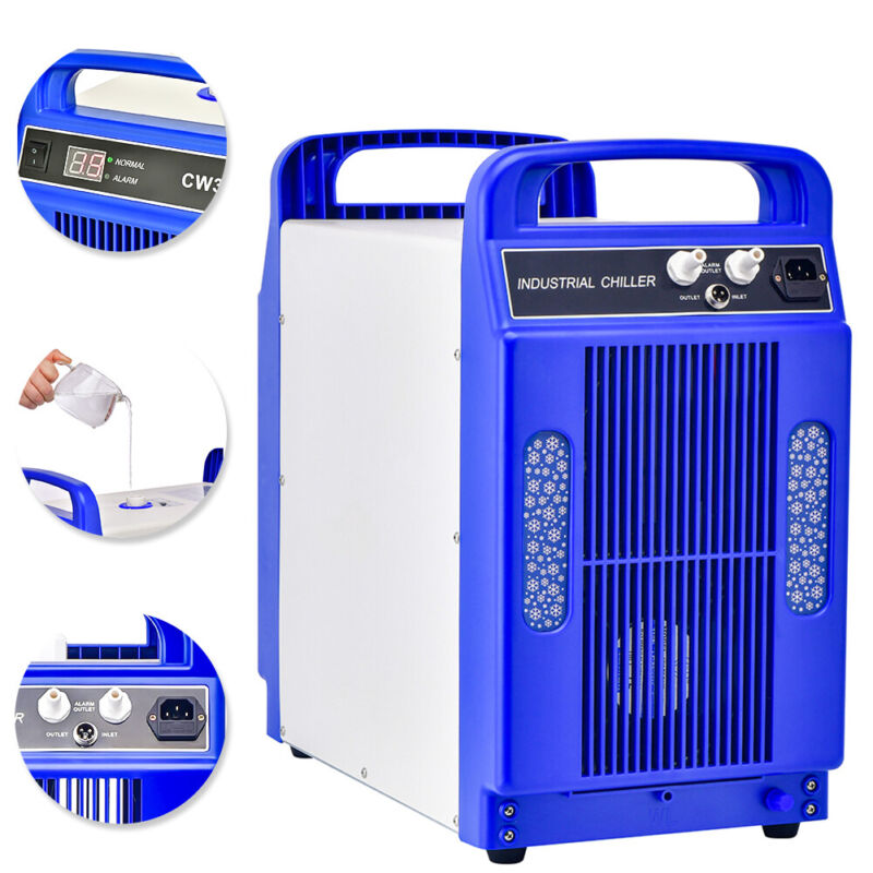 CW-3000DG Industrial Water Chiller For Laser Engraver Cutter Engraving Machine