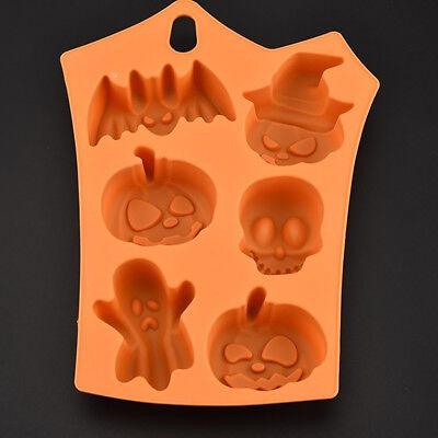Pumpkin/Skull Design Silicone Baking Cake Mold Halloween Fondant Decor Joyful