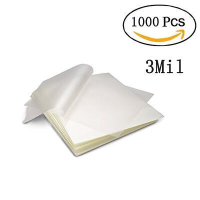 1000 Pcs 3 Mil Letter Thermal Laminating Pouches Heat Seal Sheets 9x 11.5 Size