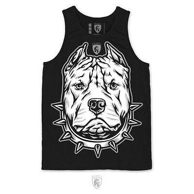 Og Abel Pitbull Haustier Hund Tier Tätowierung Urban Tank Erwachsene Herren T ()