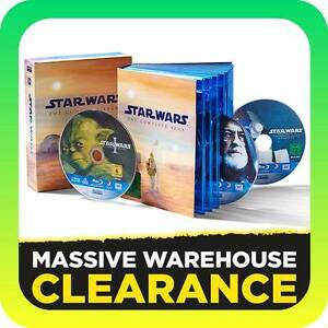 Star Wars 1-6 The Complete Saga 1 2 3 4 5 6 (Blu-ray, 9-Disc Set) Tullamarine Hume Area Preview