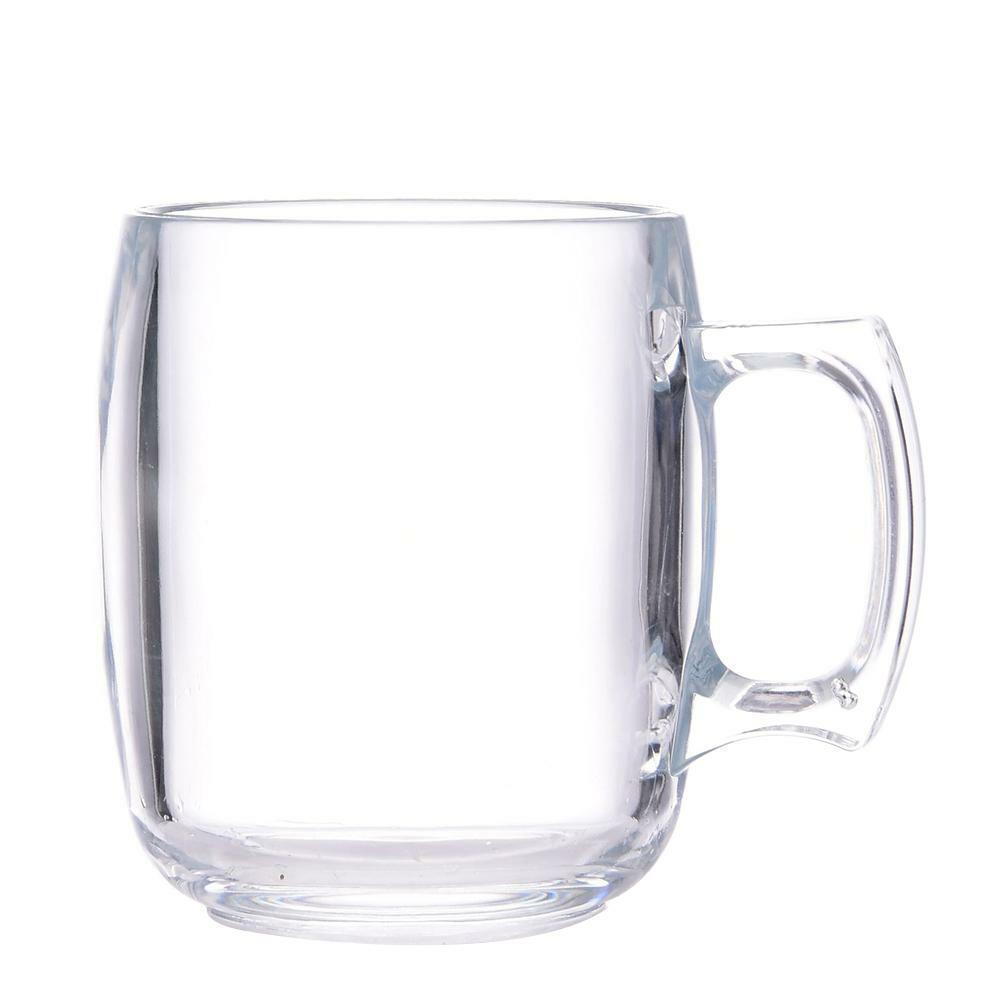 320ML Handle Plastic Transparent Beer Mug Drink Cup For Okto