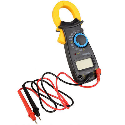AC DC Voltage LCD Digital Clamp Multimeter Buzzer Electronic Handle Tester Meter