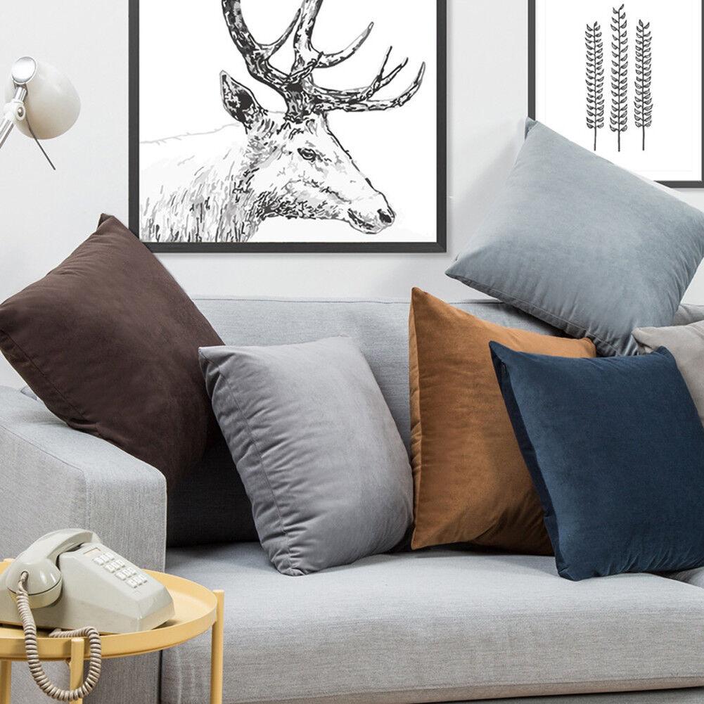 Microfiber Velvet Throw Pillow Covers Decorative Cushion Pil