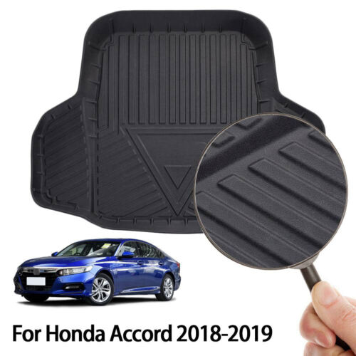 EX-L All Model Hybrid EX Touring Sport Yoursme Cargo Liner Rear Cargo Tray Trunk Floor Mat Waterproof Protector for 2018 2019 Honda Accord Sedan