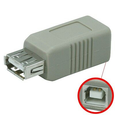 USB 2.0 Type A Female To USB Type B Female Adapter Converter Extension