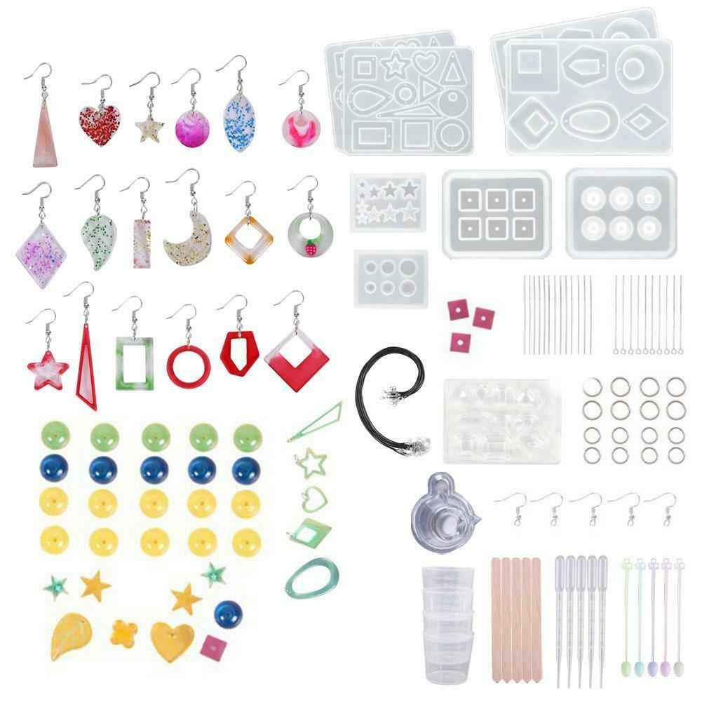 289 pcs silicone resin jewelry molds epoxy