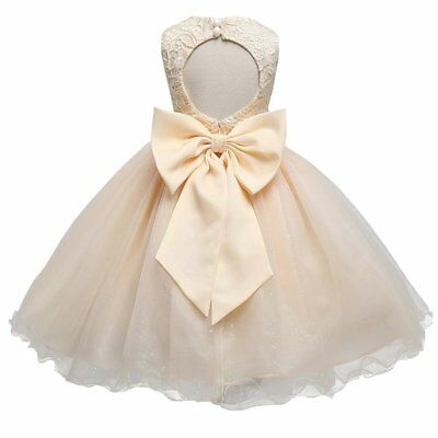 Lace Tulle Flower Girl Dress Vintage Wedding Party Dress for Kids Tutu Dresses