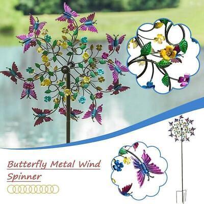 Metal Butterfly Wind Spinners Garden Windmill Outdoor Yard Lawn Decor