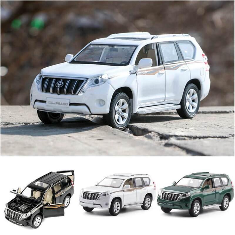 Toyota Land Cruiser Prado SUV 1:32 Diecast Model Car Toy Collection Sound/&Light