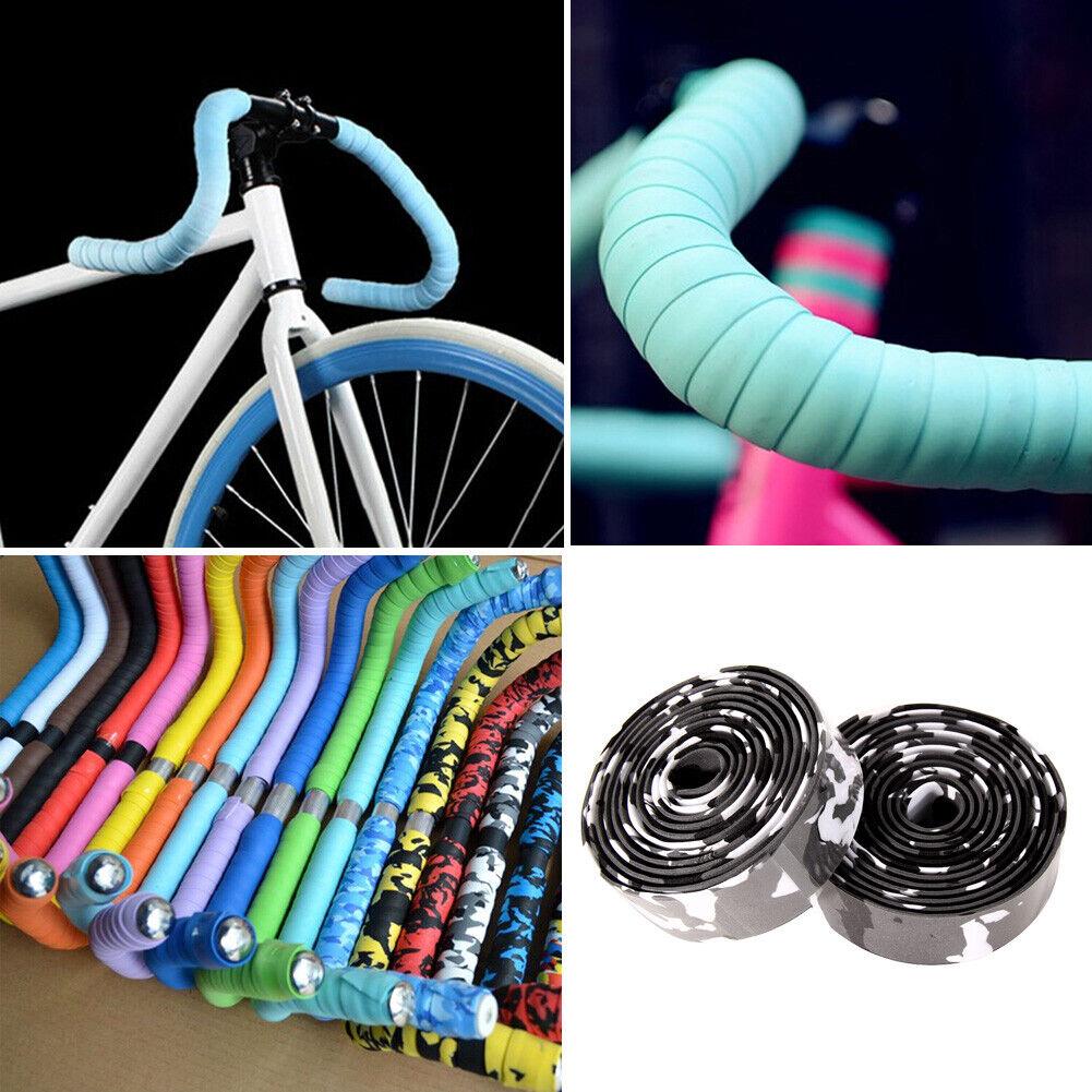 Rennrad Silva  Lenkerband Kork Fahrrad Lenkerband Rot,Gelb,Blau und Schwarz