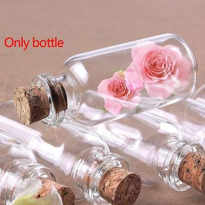 Small Stopper Tiny Glass Bottle Jars With Cork Vial Containers Bulk Gift