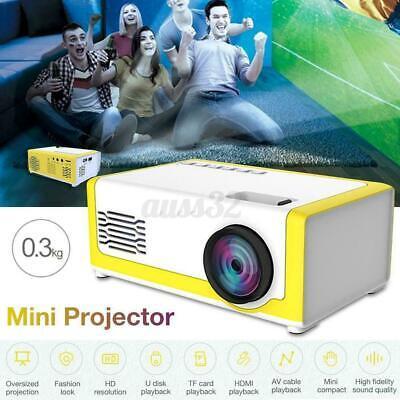 Mini Portable Projector YG300 3D HD LED Home Theater Cinema 1080P AV USB  US