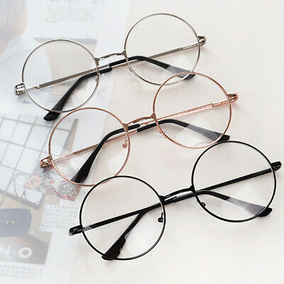 Fashion Metal Eye Glasses Frames Vintage Round Eye Ornament Clear Lens (Round Eye Frames)