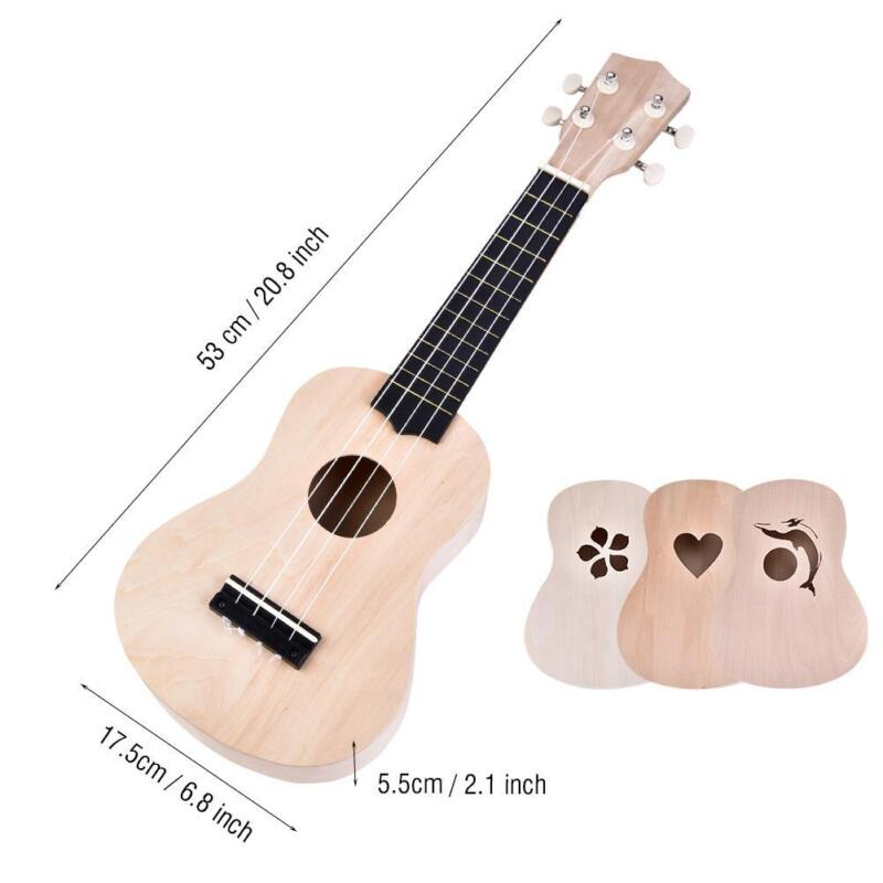 21 Zoll Ukelele Ukulele DIY Kit Hawaii Gitarre Lackierbar Musikinstrumente Hot