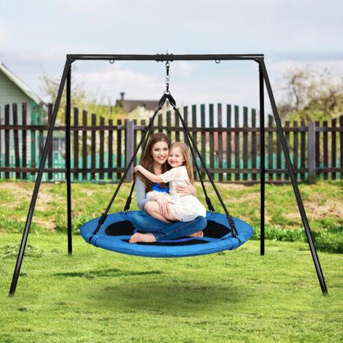 Neu Schaukelgestell mit Nestschaukel mit Metallgestell Fur Kinder & Erwachsene