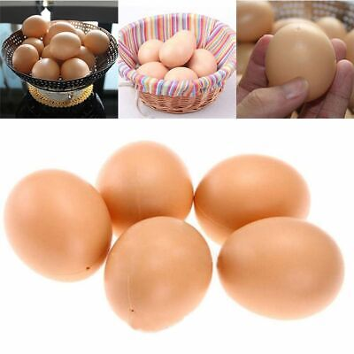 5Pcs Plastic Simulation Fake Eggs Easter Egg Chicken Joke Prank Home Party Decor (Easter Egg Chicken)