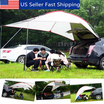 Outdoor Portable Waterproof Car Tent Camping Tail Skylight Canopy Trailer Awning