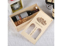 Vintage Wine Pine Wood Case Holder Carrier Double Bottle Storage Crate Box Gift
