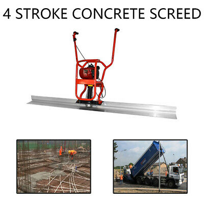 4 Stroke Gas Concrete Wet Screed Power Screed Cement 37.7cc 6.56ft Board