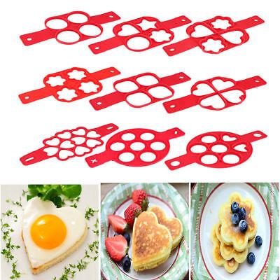Pancake Egg Maker Mold Nonstick Silicone Omelette Egg Ring Cooker Pan Flip Mould (Pancake Ring)