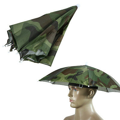 Practical Sun Umbrella Hat Golf Fishing Camping Headwear Cap Head Hat Workout (Fishing Umbrella Hat)
