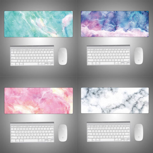 Starry Sky Marble Gamer Gaming Keyboard Mouse Mats Desktop L