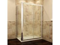 1200 x 900mm Sliding Shower Enclosure And Tray&Waste Door+Side Panel 8mm safety glass REDUCED!