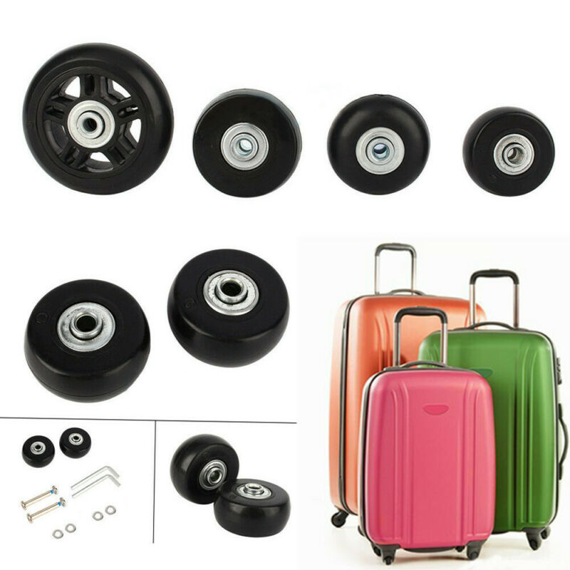 1Pair Luggage Suitcase Replacement Wheels Axles Deluxe Repai