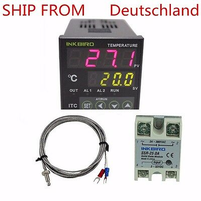 ITC-100VH PID Temperaturregler Thermostat regler Temperatur Heizung 25A SSR