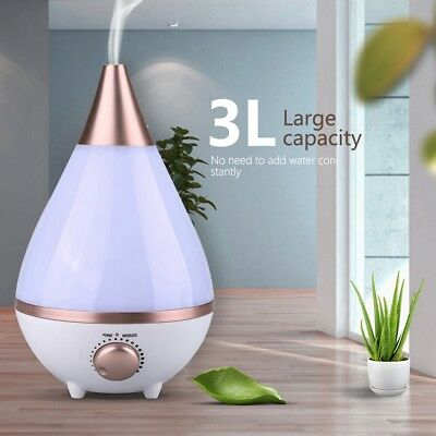 LED Ultraschall Luftbefeuchter Befeuchter Aromatherapie Aroma Diffusor 3L GOOD ()