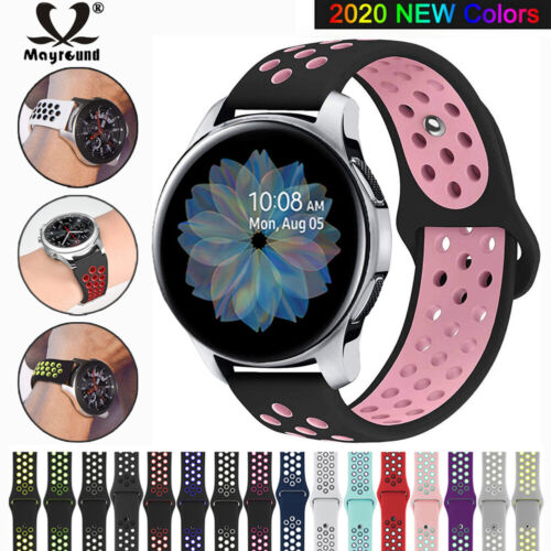 For Samsung Galaxy Watch 42/46mm Active 2 Replacement Silicone Sport Band Strap Jewelry & Watches