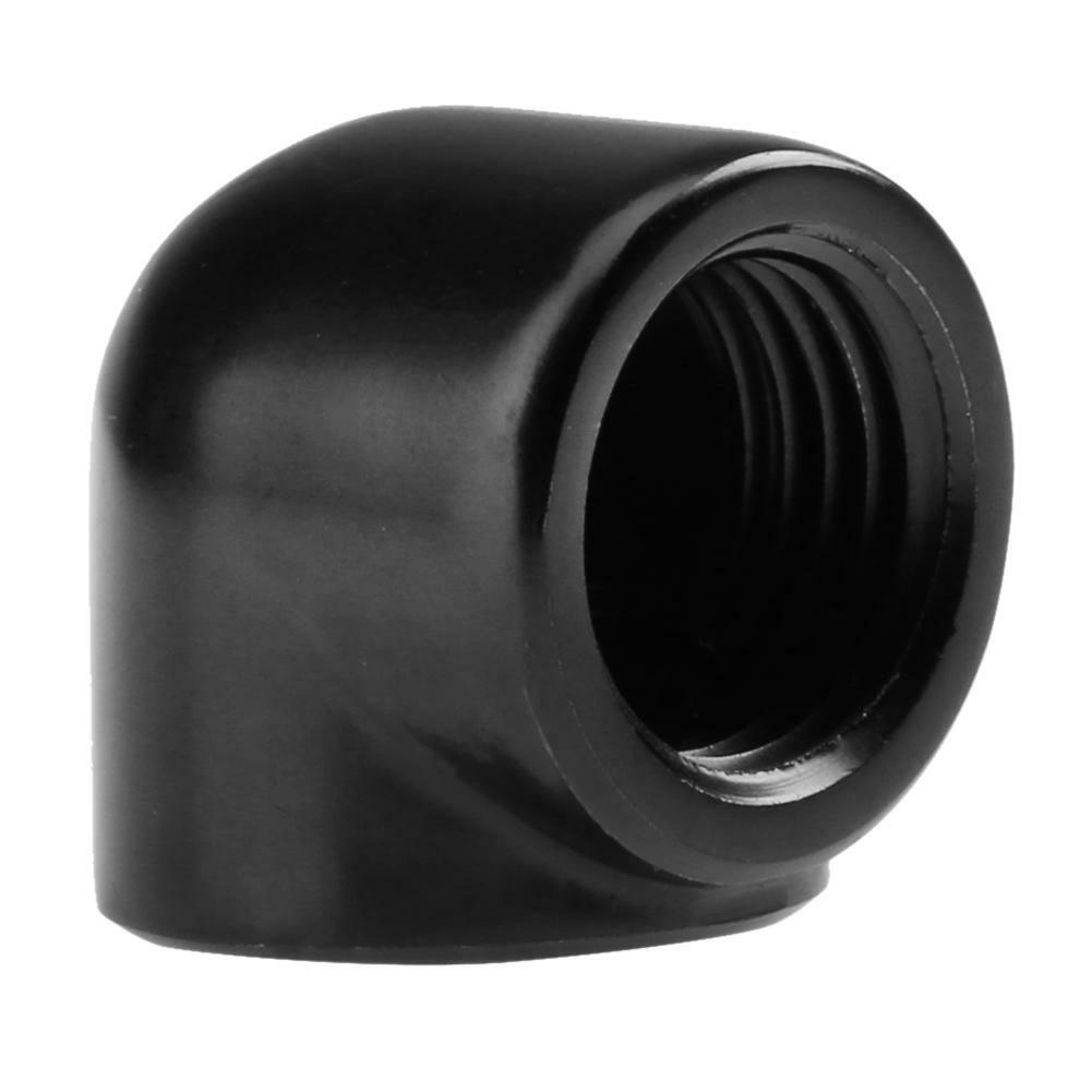 90 Degree G1//4 Inner Thread Elbow Adapter for PC Water Cooling System Water Tube