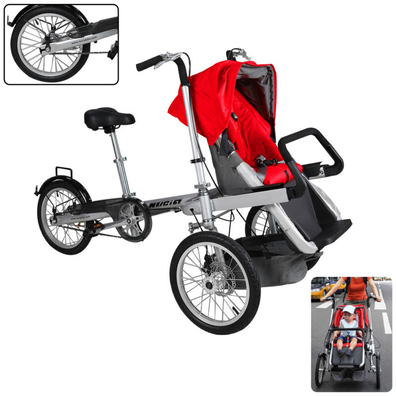 Multi-Functional  Baby and Mother Bike Stroller with 3 Wheels Comfortable