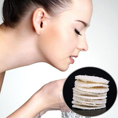 Soft Loofah Face Body Cleansing Sponge Exfoliating Pad Facial Deep Cleaning -