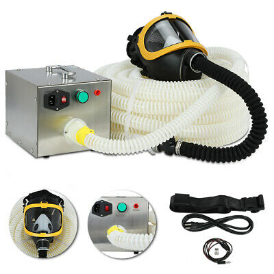 66ft 110-240v Electric Air Supply Long Tube Respirator Isolated Gas Mask