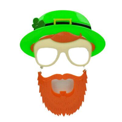 Sun Staches Green Hat St Patricks Day Pattys Lucky Irish Mustache Glasses Clear - St Patricks Day Sunglasses