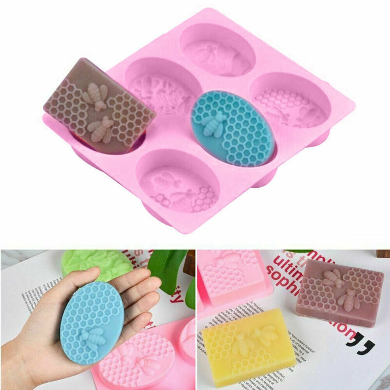 New Bee Silicone Soap Molds 3d For Honeycomb Soap Making Candle Wax Resin Mold
