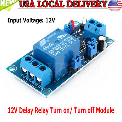 Dc 12v 48ma Adjustable Timer Delay Turn Onoff Switch Time Relay Module Ark Us