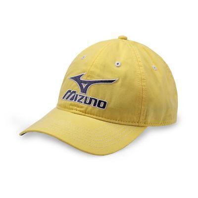 New Mizuno Aruba Adjustable Mens Hat Cap   Aztec Yellow Osfm  With Tags
