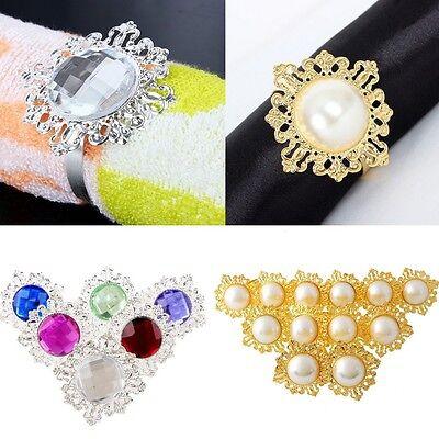 12pcs Diamond Napkin Ring Serviette Holder Wedding ...