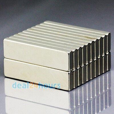10pcs Big Strong Block Cuboid Magnets 40mm X 10mm X 4mm Rare Earth Neodymium N50