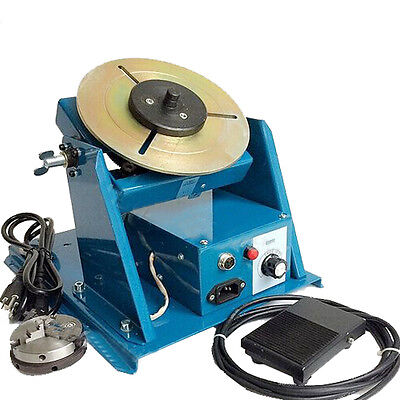 10kg Rotary Welding Positioner Turntable Table Mini 2.5 3 Jaw Lathe Chuck Video