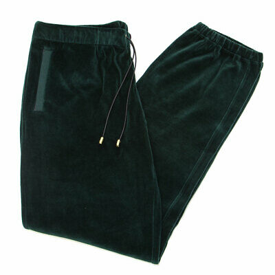 VERSACE Men's Dark Green Velour Jogger Track Pants Sz 5XL $960 NEW