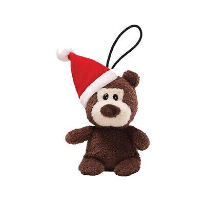 Gund Plush Itty Bitty Bits Bear w/Santa Hat, Brown 5.5