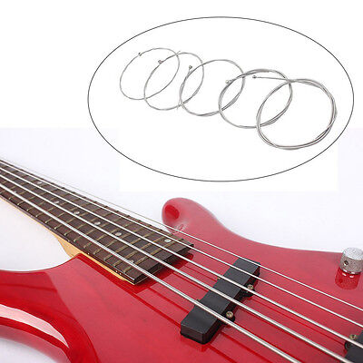 5Pcs String Bass Guitar Parts Silver Steel Plated Gauge Strings Sound Music