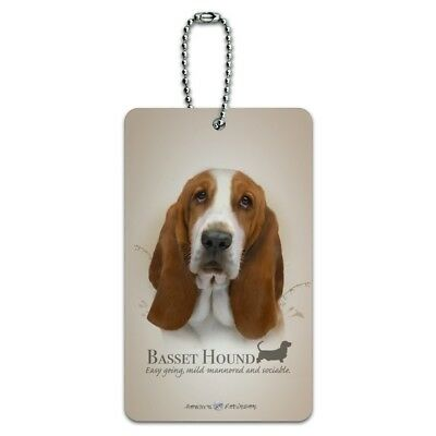 Basset Hound Dog Breed Luggage Card Suitcase Carry-On ID Tag ()
